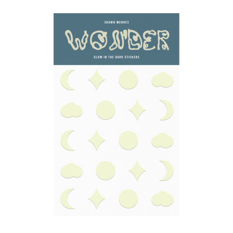 WONDER GLOW IN THE DARK by Shawn Mendes - Sticker Pack - shop now at Shawn Mendes store